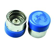 2x STAINLESS STEEL BEARING BUDDY PROTECTORS + DUST CAP - MARINE BOATING SUPPLIES
