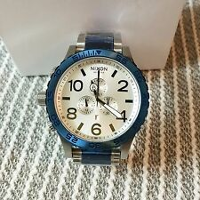 Nixon 51-30 Chrono Silver Blue Men's Wrist Watch