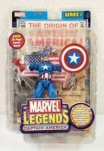 "2002 Toybiz Marvel Legends Series Captain America Series 1 6"" Action Figure"