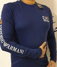 Men's Emporio Armani EA7 Crew Tee Long/Full Sleeve  S-M-L-XL-XXL