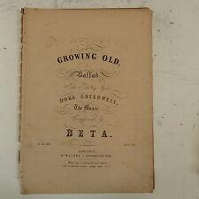 Antico songsheet BETA invecchiando, Dora Greenwell