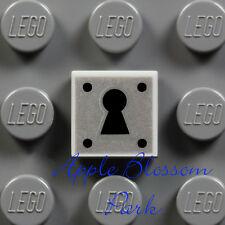 NEW Lego Minifig KEY HOLE LOCK 1x1 GRAY TILE Castle Door Treasure Chest Padlock