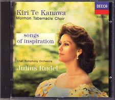 Kiri Te Kanawa: canzoni of ispirazione Ave Maria branco CD Gounod Franck Salmo 150