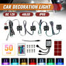 8PCS 48 LED RGB Rock Lights Under Body LED Truck Lighting With Remote Control