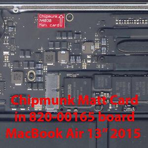 """EFI BIOS firmware Matt Card MacBook Air 13"""" 2015 emc2925 820-00165"""