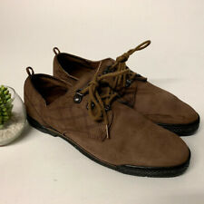 95721ae34d8fc9 VTG Reebok BOKS Brown Leather Quilted Lace Up Shoes 90s Booties Womens Size  8 US