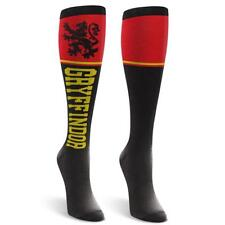 HARRY POTTER GRYFFINDOR Knee High Socks One Size Red Black Magic Costume Cosplay