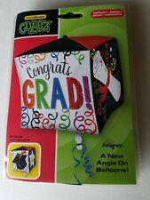 """Unique Cubez 15""""x15"""" Congrats Grad Foil Mylar Party Balloon"""