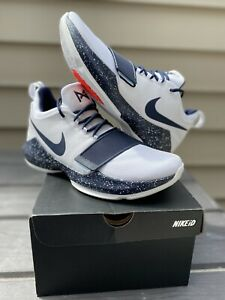 Nike PG 1 Paul George ID White Navy Blue SZ 12.5 LA Clippers RARE 1 of 1 DS NEW