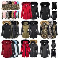 Designer Damen Jacke Parka Mantel Winterjacke warm gefüttert Damenjacken XS-XL
