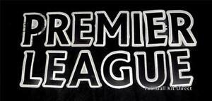 Official Premier League Lextra 07-12 Football Shirt Black Letter Player Size