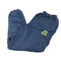 VTG Notre Dame Fighting Irish Track Pants Large Embroidered Pockets Ankle Zip