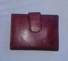 Buxton Heiress Double Carded Burgundy Red Leather Wallet Clutch