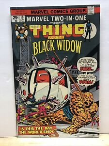 MARVEL TWO IN ONE #10 The THING And The BLACK WIDOW 1975 VF/NM