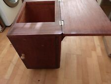 More details for small vintage sewing cabinet for threads etc fits a sewing machine not included