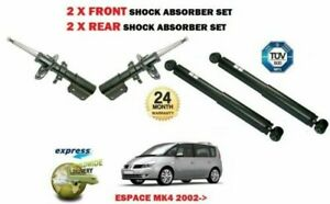 FOR RENAULT ESPACE MK4 2002-> 2X FRONT + 2X REAR SHOCK ABSORBER SHOCKER SET