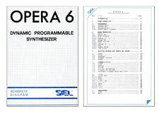 SIEL OPERA 6 Service Manual Schemi elettrici Schematics Schaltplan + Owner's
