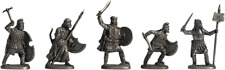 """Tin soldier, figure. A set of tin soldiers - """"Persians"""" 40-50 mm 5 figures"""