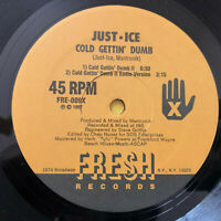 "Just-Ice ‎– Cold Gettin' Dumb  HIP-HOP 1987  UK Vinyl 12"" FRE009   MINT UNPLAYED"
