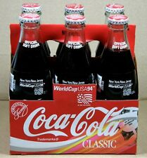 1994 COCA-COLA World Cup USA '94 Soccer ~ NY/NJ ~ 6 Full Bottles + Carrier