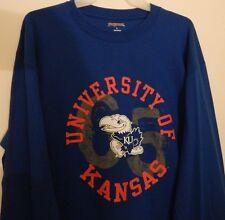 University of Kansas Jayhawks Blue Long Sleeved JanSport T-Shirt Size Large