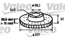 VALEO Juego de 2 discos freno Antes 277mm ventilado LAND ROVER FREELANDER 186871