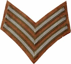 Sergeant Stripes WWI/ WWII style British Army Sgt Stripes/chevrons