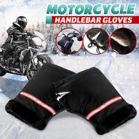 2x Motorrad Roller Lenkerstulpen Lenker Handwärmer Handschuhe Winter Wasserdicht