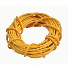 3M Real Round Leather Jewellery Craft Necklace Charm Rope String Cord Yellow 2mm