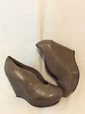 Office Brown Ankle Leather Boots Size 37