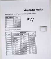 Graphic/Graflex Finder Mask #4 For Speed, Crown Graphic Cameras