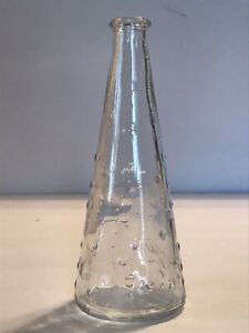 Emma Dafnas Design Clear Polish Art Glass Bottle Vase Raised Circles for Ikea