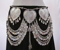 Womens Coin Belt Tribal Belly Dance Boho Gypsy Hippy Banjara Skirt Waist Jewelry