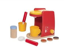 Wooden Toy Coffee Machine, Play Kitchen Food