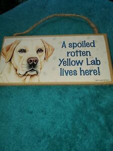 yellow lab sign