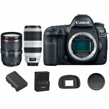 Canon EOS 5D Mark IV DSLR Camera Body 24-105mm f/4L IS II USM + 100-400mm USM II