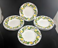 Vintage HAND PAINTED CHINA Lot of 8 SOUP BOWLS Portugal SIGNED White w/ Flowers