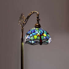 Tiffany-Style Dragonfly Reading Lamp Light Electric Pole Tree Stained Glass New