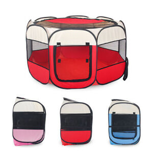 Large Med Fabric Dog Crate Cat Cage Pet Travel Puppy Play Pen Tent
