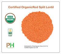 Organic Red Split Lentils aka Masoor Dal non-GMO Bulk rich in Iron and Protein