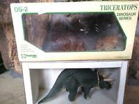 VINTAGE TSUKUDA TRICERATOPS, 11 inches long, 1/30 VINYL 1988, New, Mint In Box