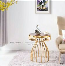 Marble Side Table Staineless Steel in Gold New 2020 designs