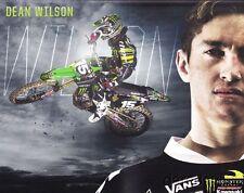 2013 Dean Wilson Monster Kawasaki KX450F AMA Supercross SX Motocross MX postcard
