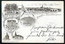 Litho / Lithographie DOLLENDORF (Blankenheim Wiesbaum Lissendorf Stadtkyll Eifel