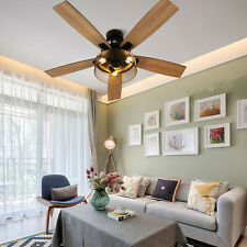 52''Ceiling Fan Light Simple Chandelier With Remote Control WhisperWind Motor
