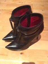Da Donna CESARE PACIOTTI stivali tacco alto-NERO-EU 40 UK 6.5