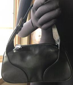 Bally Vintage Mini Baguette Bowling Bag Leather Wristlet