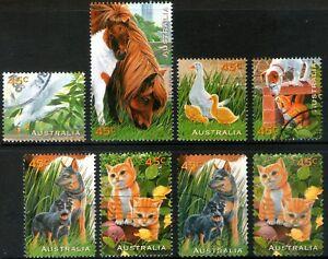 Australia 1996 Pets set of 8 Used