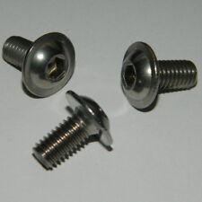 25 Edelstahl Linsenkopf Schrauben mit Flansch M5x20   ISO7380F  V2A  A2