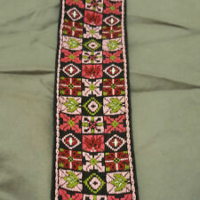 Vintage 60s Ace Woodstock Hendrix Woven Hippie Pattern Guitar Bass Strap Fabric